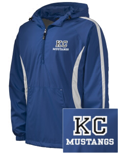 King City High School Mustangs Embroidered Men's Colorblock Raglan Anorak