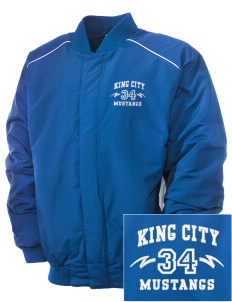 King City High School Mustangs Embroidered Russell Men's Baseball Jacket