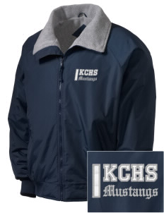 King City High School Mustangs Embroidered Men's Fleece-Lined Jacket