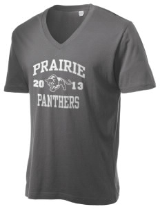 Prairie Elementary School Panthers Alternative Men's 3.7 oz Basic V-Neck T-Shirt