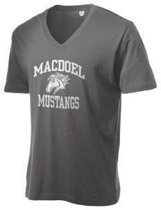 MacDoel Elementary School Mustangs Alternative Men's 3.7 oz Basic V-Neck T-Shirt