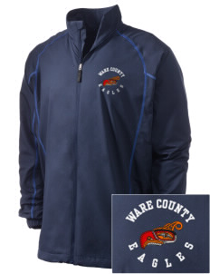 Ware County Magnet School Eagles Embroidered Men's Nike Golf Full Zip Wind Jacket
