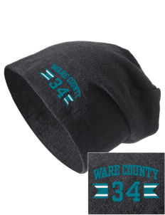 Ware County Magnet School Eagles Embroidered Slouch Beanie