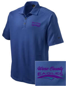 Ware County Magnet School Eagles Embroidered Nike Men's Dri-FIT Pique II Golf Polo