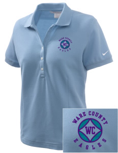 Ware County Magnet School Eagles Embroidered Nike Women's Pique Golf Polo