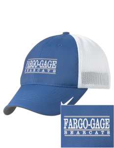 Fargo School Bearcats Embroidered Nike Golf Mesh Back Cap