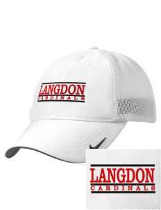 Langdon Area Elementary School Cardinals Embroidered Nike Golf Mesh Back Cap