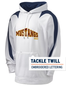 Armstrong-Ringsted Middle School Mustangs Holloway Men's Sports Fleece Hooded Sweatshirt with Tackle Twill