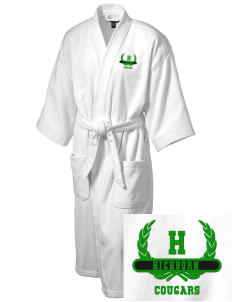 Hichborn Middle School Cougars Embroidered Terry Velour Robe