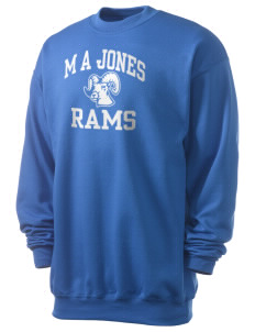 M A Jones Elementary School Rams Men's 7.8 oz Lightweight Crewneck Sweatshirt