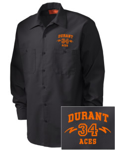 Durant Elementary School Aces Embroidered Men's Industrial Work Shirt - Regular