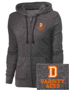 Durant Elementary School Aces Embroidered Women's Marled Full-Zip Hooded Sweatshirt