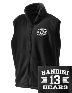 Bandini Elementary School Bears Embroidered Unisex Wintercept Fleece Vest