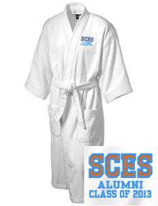 Silver Creek Elementary School Dragons Embroidered Terry Velour Robe