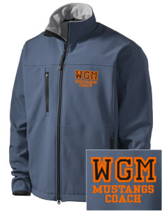 William G Mather Middle School Mustangs Embroidered Men's Glacier Soft Shell Jacket