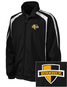 Hornbeck High School Hornets Embroidered Men's Colorblock Raglan Jacket