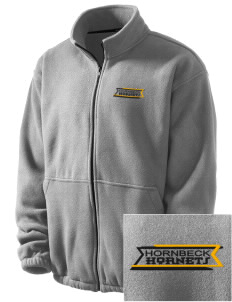 Hornbeck High School Hornets Embroidered Men's Fleece Jacket