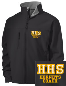 Hornbeck High School Hornets Embroidered Men's Soft Shell Jacket