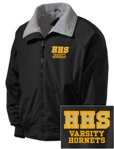 Hornbeck High School Hornets Embroidered Men's Fleece-Lined Jacket