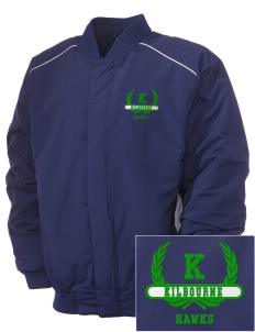 Kilbourne School Hawks Embroidered Russell Men's Baseball Jacket