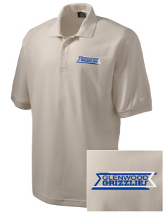 Glenwood Elementary School Grizzlies Embroidered Nike Men's Pique Knit Golf Polo
