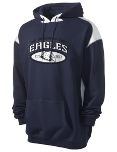 Saint John Elementary School Eagles Men's Pullover Hooded Sweatshirt with Contrast Color