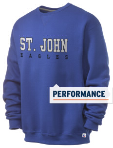 Saint John Elementary School Eagles  Russell Men's Dri-Power Crewneck Sweatshirt