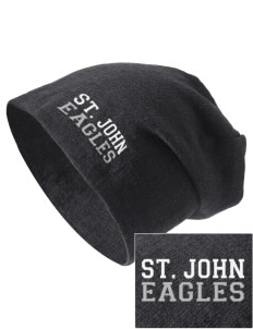 Saint John Elementary School Eagles Embroidered Slouch Beanie