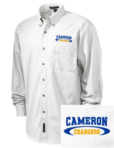 Cameron Elementary School Chargers Embroidered Tall Men's Twill Shirt