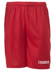 "Holy Trinity School Crosses Men's Mesh Shorts, 7-1/2"" Inseam"