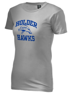 Holder Elementary School Hawks Alternative Women's Basic Crew T-Shirt