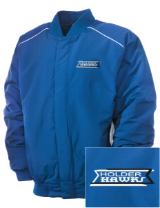 Holder Elementary School Hawks Embroidered Russell Men's Baseball Jacket