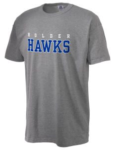 Holder Elementary School Hawks  Russell Men's NuBlend T-Shirt