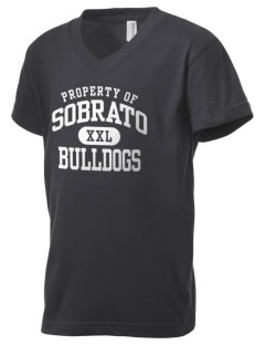 Sobrato Bulldogs Kid's V-Neck Jersey T-Shirt