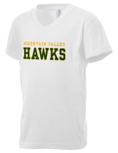 Mountain Valley Academy Hawks Kid's V-Neck Jersey T-Shirt