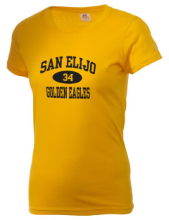 San Elijo Middle School Golden Eagles  Russell Women's Campus T-Shirt