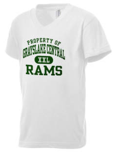 Grayslake Central High School Rams Kid's V-Neck Jersey T-Shirt