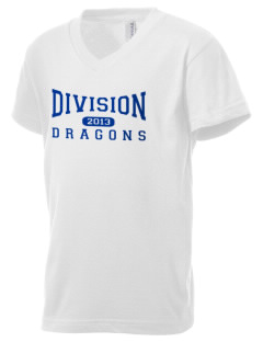 Levittown Division High School Dragons Kid's V-Neck Jersey T-Shirt