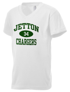 Jetton Junior High School Chargers Kid's V-Neck Jersey T-Shirt