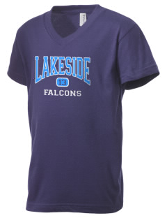 Lakeside Christian Academy FALCONS Kid's V-Neck Jersey T-Shirt