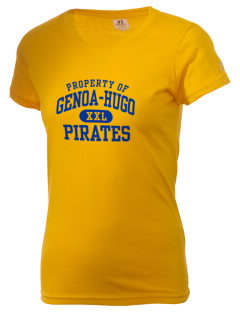 Genoa Hugo School Pirates  Russell Women's Campus T-Shirt