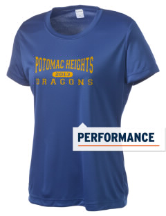 Potomac Heights Elementary School Dragons Women's Competitor Performance T-Shirt