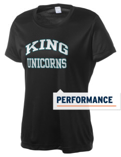 Martin Luther King Jr Law & Career High Unicorns Women's Competitor Performance T-Shirt