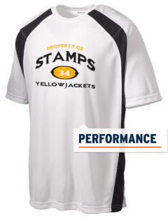 Stamps High School Yellowjackets Men's Dry Zone Colorblock T-Shirt