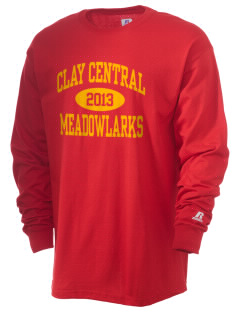 Clay Central School Meadowlarks  Russell Men's Long Sleeve T-Shirt