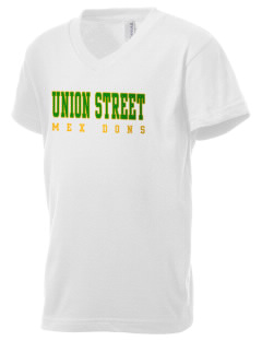 Union Street Elementary School Mex Dons Kid's V-Neck Jersey T-Shirt