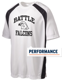 Battle Elementary School Falcons Men's Dry Zone Colorblock T-Shirt