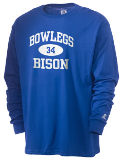 Bowlegs School Bison  Russell Men's Long Sleeve T-Shirt