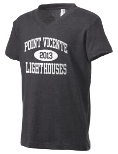 Point Vicente Elementary School Lighthouses Kid's V-Neck Jersey T-Shirt