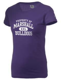 Thurgood Marshall Elementary School Bulldogs  Russell Women's Campus T-Shirt